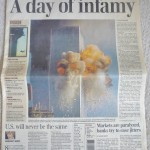 Globe & Mail Septe 11, 2001 front page